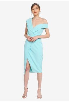e81774be70129 49% OFF Lavish Alice Off Shoulder Buckle Detail Wrap Dress S$ 149.90 NOW S$  75.90 Sizes 6 8 10 12 14