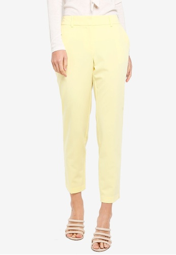 Dorothy Perkins yellow Lemon Split Hem Ankle Grazer Pants 4F7E9AAA5D25D4GS_1