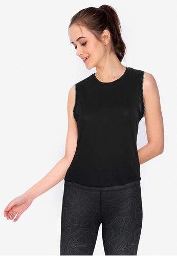 Nike black and grey Women's Crochet Yoga Tank Top 10BFCAA7A63AC8GS_1