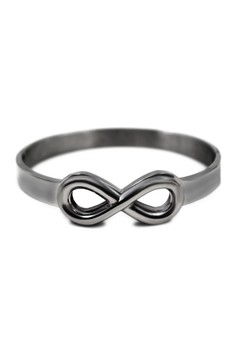 Stainless Steel Embossed Infinity Bangle 2000200