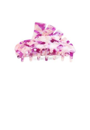 Glamorousky silver Fashion High-end Purple Pattern Geometric Large Hair Claw 41EB4AC1C922D6GS_1