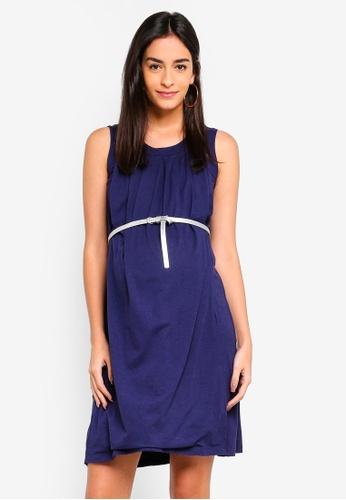 Spring Maternity navy Maternity Adela Dress F461DAA2FE338EGS_1