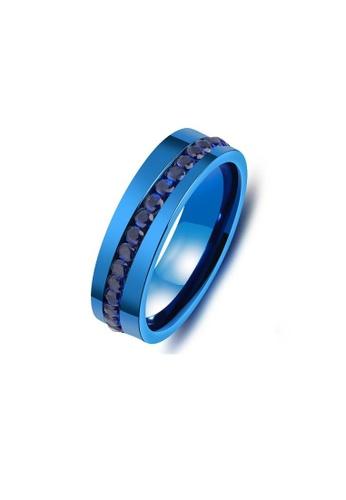ADORA black Stainless Steel Blue Ring FADB2AC391D7BCGS_1