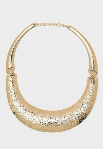 Berrybenka Label gold Kineisha Necklace Gold F2162AC36FA377GS_1