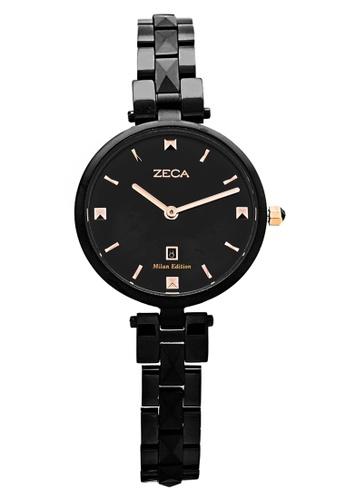 ZECA black Zeca Watches Ladies Fashion Stainless Steel Analog - 196L Black ZE260AC18SJPSG_1