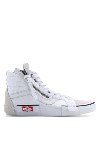 VANS white SK8-Hi Reissue CAP Checkerboard Sneakers 02B82SH2627680GS_1