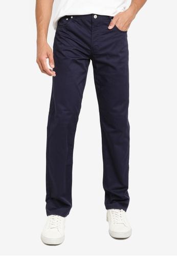 CALVIN KLEIN navy Twill Body Pants 68262AAB533CB6GS_1