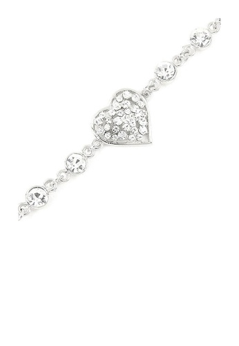 Glamorousky silver Sparkling Heart Bracelet with Silver Austrian Element Crystals 5D6B1ACA550DFAGS_1