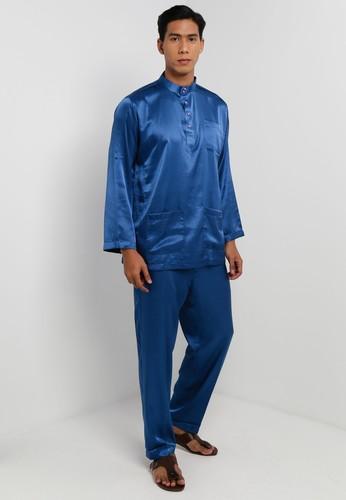 Gene Martino blue Traditional Baju Melayu BC933AAAA8BE79GS_1