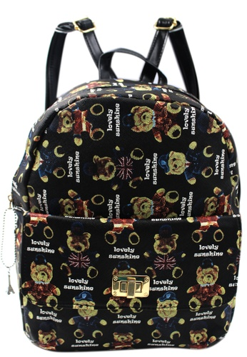 Vintage Paris multi Timmy Printed Backpack 006 VI567AC81MICPH_1