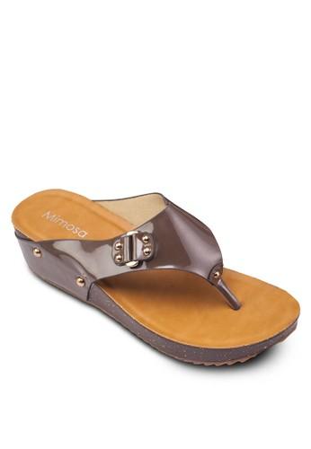 鉚釘楔形涼鞋, zalora 手錶 評價女鞋, 楔形涼鞋