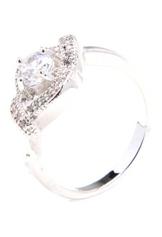 Anne Forever Promise 18k Rhodium Plated Cubic Zircon Ring