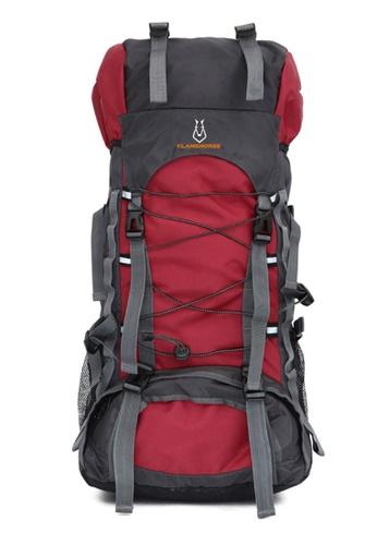 Jackbox red FlameHorse Steel Support Camping Travelling Hiking Backpack 60L 154-Red DAC91AC873D423GS_1
