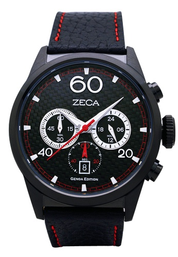 ZECA black and red Zeca Watches Men Fashion Leather Analog - 240M Black 1802CACCF7633DGS_1