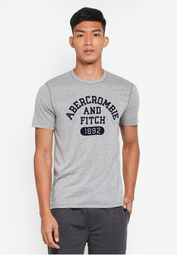 Abercrombie & Fitch grey Brand Logo T-Shirt 09BE4AA5CDE82BGS_1