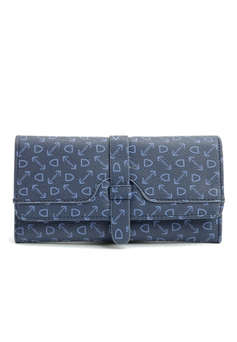 LULUGIFT Lulugift New Dark Blue Long-Wallet LU989AC0RM11MY_1