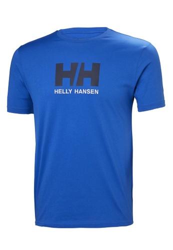 Helly Hansen blue HH M Logo T-Shirt Olympian Blue 939F2AAF99A2E7GS_1