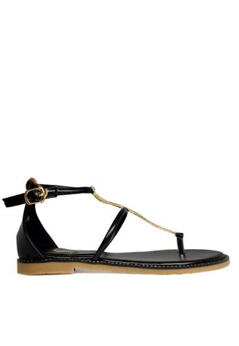 Twenty Eight Shoes black Chain Sandal TW446SH67AEQHK_1