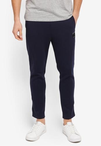 UniqTee navy Slim Fit Jersey Pants UN097AA0SYUEMY_1