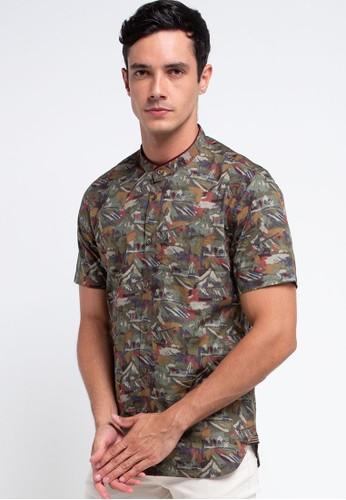 Men's Top green GRIMSON-OLIVE Shirt 6A762AAFBBE6ADGS_1