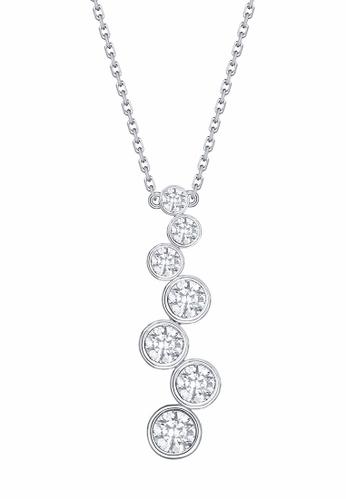 Smiling Rocks white 10K White Gold 0.47ct Lab Grown Diamond Bubbly Necklace C72CDACF3C3473GS_1
