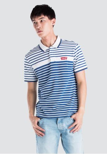 7b98674bf39ff Levi's blue Levi's Modern Housemark Polo Shirt Men 69948-0007  246AAAA537CDB0GS_1