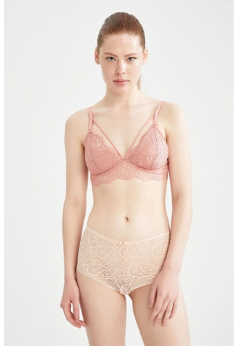 DeFacto pink Lacework Bralet 6F8BBUS308B402GS_1