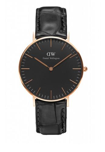 Reading 36mm 經典黑錶esprit服飾盤鱷魚紋手錶, 錶類, 飾品配件