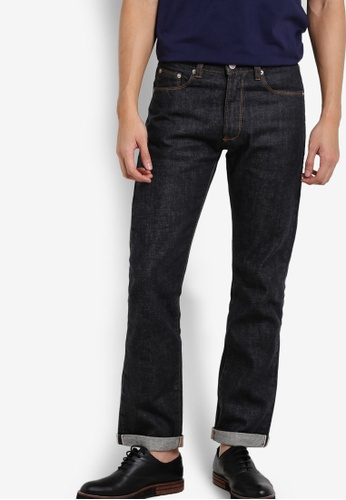Electro Denim Lab grey Selvedge Denim Modern Straight Jeans EL966AA45UMCMY_1