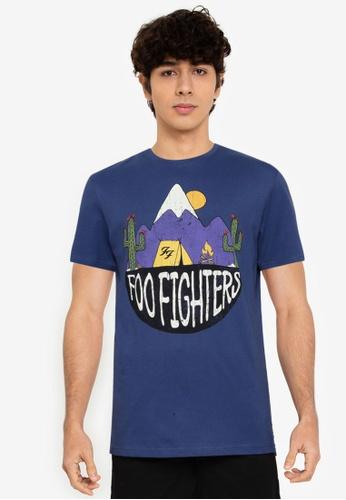 Springfield blue Foo Fighters T-Shirt 79CEDAA90595F0GS_1