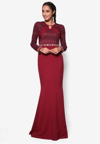 Jovian Mandagie for Zalora red Zandrea Modern Dress JO948AA66WOFMY_1