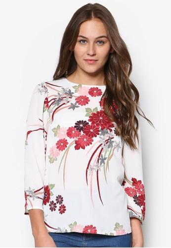 水彩花卉esprit分店七分袖上衣, 韓系時尚, 梳妝
