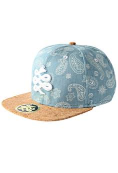 Baem Korea Baby Blue Color Paisley Snapback Fashion Baseball Cap