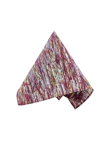 Caveman red Maroon Earth Pocket Square 6EF64ACE007340GS_1