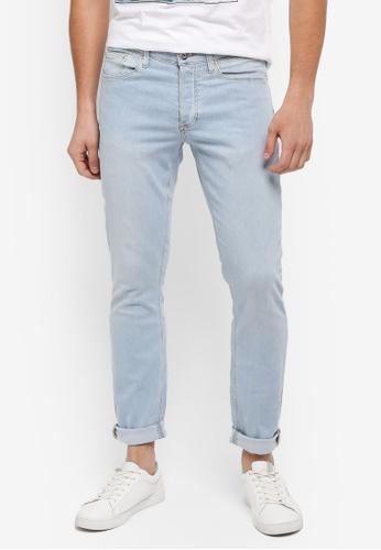 River Island blue Sid Skinny Jeans A1D6DAAEDEA628GS_1