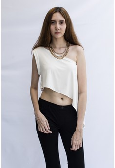 Diagonal crop top
