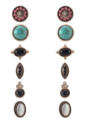 Mirede zalora是哪裡的牌子六入耳環, 飾品配件, 飾品配件