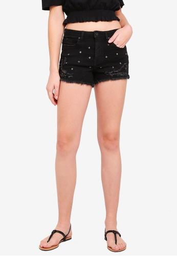 OVS black Denim Shorts 7AF25AAF4B1E5EGS_1