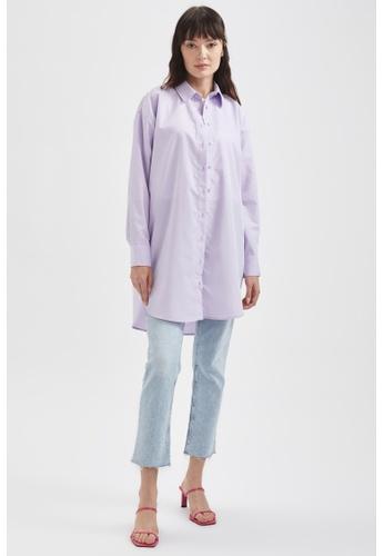 DeFacto pink Long Sleeve Shirt Tunic E1705AACEAA3C4GS_1