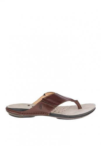 Hush Puppies brown Davi Sandals HU326SH0KTDUPH_1