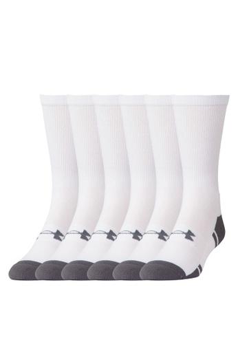 Under Armour white UA Resistor III Crew Socks UN337AC84ZNJMY_1
