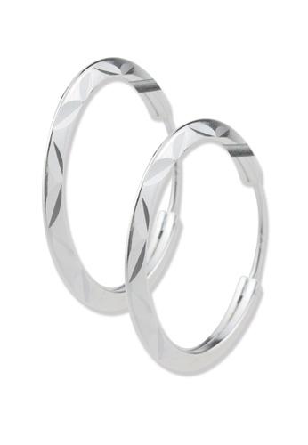 SC Tom Silver silver Ladies Loop Earrings- TEL005 SC872AC26CCZPH_1