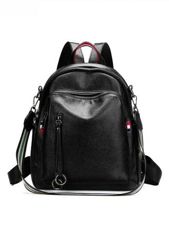 Twenty Eight Shoes black Stylish Faux Litchi Leather Backpack JW CL-C8000-L 2E85AAC8E3BB0AGS_1
