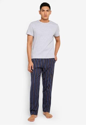 Burton Menswear London 灰色 條紋睡衣組 2A20BAAB2B80F0GS_1