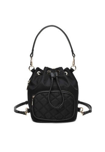 Milliot & Co. black Kitty Top Handles Bag 668FDACAF5DE8EGS_1