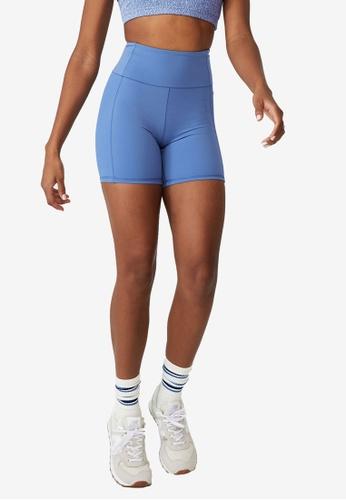 Cotton On Body blue High Waisted Yoga Bike Shorts EB5DCAAD8E98F6GS_1