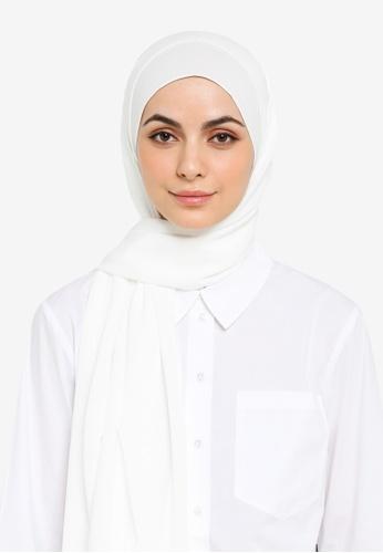 UMMA white Almas Basic Scarf in Dove White 91457AA2728684GS_1