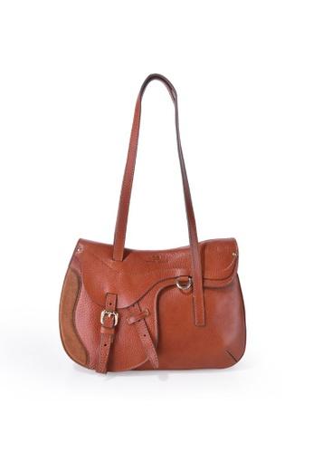 Charles Berkeley brown Charles Berkeley Italian Craftsmanship Sienna Vintage Style Tote Bag -07309 6C29AAC9BE8E46GS_1