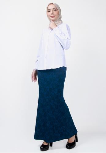 Ladies Jeans blue Rose Flower Printed Skirt 2606DAA7E470A3GS_1
