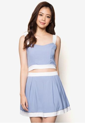 Joy 短版細肩帶短裙套裝, esprit台北門市服飾, 迷你裙
